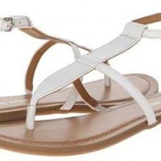 Sandale Nine West, piele naturala, 36 - Sandale dama Nine West, Culoare: Alb