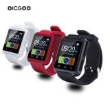 NOU Ceas smartwatch bluetooth U8 PLUS alb cu curea de silicon + cutie / Android, Alte materiale, 42mm, Rose Gold, Android Wear