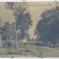 3710 - Vrancea, JARESTEA, street - old postcard, real PHOTO - used - 1917 - Carte Postala Moldova 1904-1918, Circulata, Fotografie
