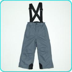 Pantaloni-salopeta iarna, grosi, impermeabili ALIVE copii | 3-4 ani | 98-104, Marime: Alta, Culoare: Gri, Baieti