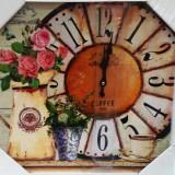Ceas de perete din lemn Vintage