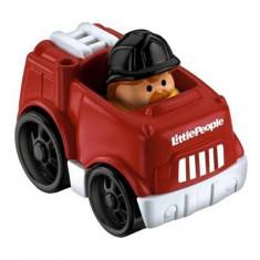 Jucarie Fisher Price Little People Wheelies Red Fire Truck