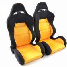 Set scaune auto sport galben cu negru DP025 - SSA49036 - Scaune sport
