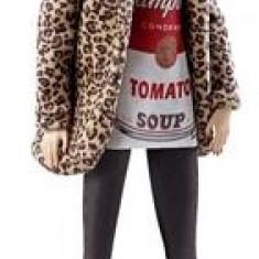 Papusa Barbie Andy Warhol 2 Campbells Soup Mattel
