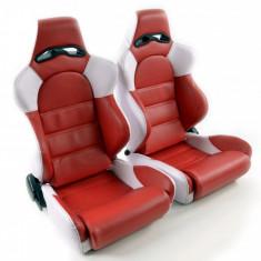 Set scaune auto sport rosu cu alb DP007 - SSA49081 - Scaune sport