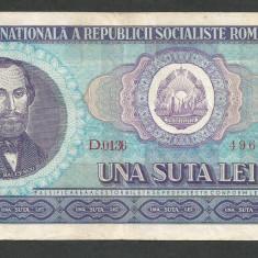 ROMANIA 100 LEI 1966 [11] VF - Bancnota romaneasca