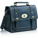 Geanta albastra stil postas Karma / Geanta dama casual retro - import Anglia