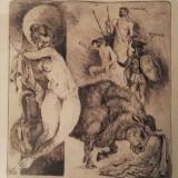 Gravura Bogdan Stihi - Rapirea Europei - Pictor roman, Istorice, Cerneala, Altul