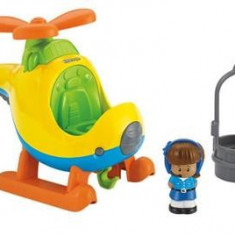 Jucarie Fisher Price Little People Spin 'N Fly Helicopter - Elicopter de jucarie