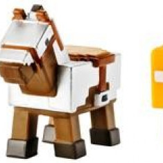 Set 3 Figurine Minecraft Armored Horse Screaming Enderman And Tabby Cat Mattel