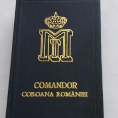 Cutie Coroana Romaniei Comandor Model Regele Mihai cu spade - Ordin