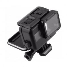 Carcasa subacvatica comptabilia cu GoPro Hero 5 cu clema si surub (Negru)