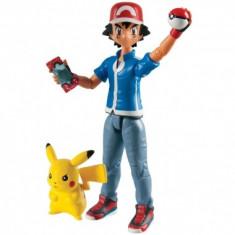 Pokemon 2-Pack Ash & Pikachu - Figurina Desene animate