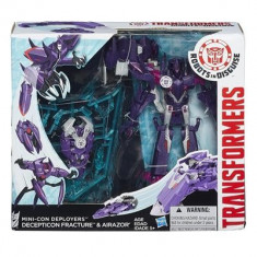 Jucarie Transformers Robots In Disguise Mini-Con Deployers Decepticon Fracture And Airazor Hasbro