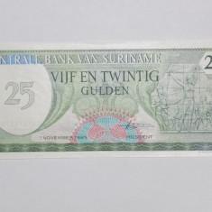SURINAME 25 Gulden 1985 UNC - bancnota america