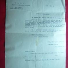 Adresa Sefului Politia Comandam. div.IV Barlad -pt.sosire comunisti evrei 1935