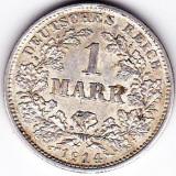 Germania 1 MARK 1 marca 1914 D argint 5, 55 gr puritate ridicata 900/1000, Europa
