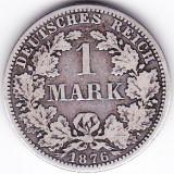 Germania 1 MARK 1 marca 1876 A argint 5, 55 gr puritate ridicata 900/1000, Europa