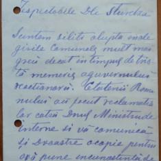 Scrisoare al lui Montzun, om politic din Roman catre Dimitrie Sturdza, 1895 - Autograf