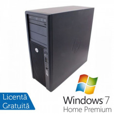 Statie Grafica HP Z210, Intel Xeon E3-1240, 3.3 Ghz, 8Gb DDR3, 750Gb HDD, DVD-ROM + Windows 7 Home Premium - Sisteme desktop fara monitor