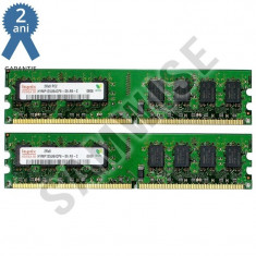 KIT Memorie RAM Hynix 2GB (2 x 1GB) 667MHz DDR2 PC2-5300 GARANTIE 24 LUNI !, Dual channel