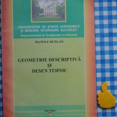 Geometrie descriptiva si desen tehnic Manole Runcan
