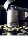 Bricheta metalica pe benzina ZIPPO- You never ride alone