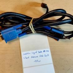 Cablu VGA Tata Usb - VGA Mama Usb Tip B 1, 8 m - Cablu PC