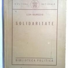 Leon Bourgeois - Solidaritate