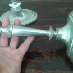 Set doua sfesnice argintate Anglia marcate 22 cm