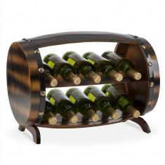 KLARSTEIN Barrica, suport din lemn pentru vinuri, 10 sticle, brad - Suport sticla vin