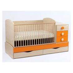 Patut Transformabil Silence Cu Leganare 4058 MyKids - Patut lemn pentru bebelusi