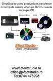 Transferam  materiale video de pe orice tip de casete video pe DVD