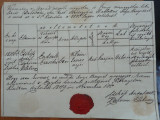 Document din Transilvania , cu sigiliu , 1849 , Ardeal