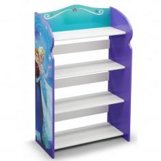 Raft carti si jucarii cu cadru din lemn Disney Frozen - Sistem depozitare jucarii