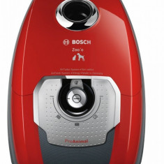 Aspirator Bosch BGL8PETGB Animal Bagged Vacuum Cleaner, 5 L - Silver/Tornado Red - Aspirator cu sac Bosch, 1100 W