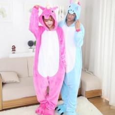PJM43 Pijama intreaga kigurumi, model unicorn - Pijamale dama, Marime: S