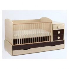 Patut Transformabil Silence Cu Leganare 4057 MyKids - Patut lemn pentru bebelusi