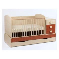 Patut Transformabil Silence Cu Leganare 4251 MyKids - Patut lemn pentru bebelusi