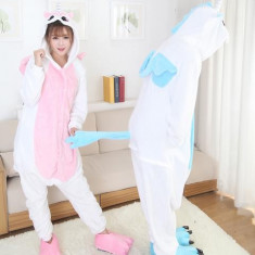 PJM44-25 Pijama intreaga kigurumi, model inorog - Pijamale dama, Marime: M, M/L