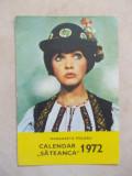 Calendar de buzunar 1972 ( Margareta Paslaru }