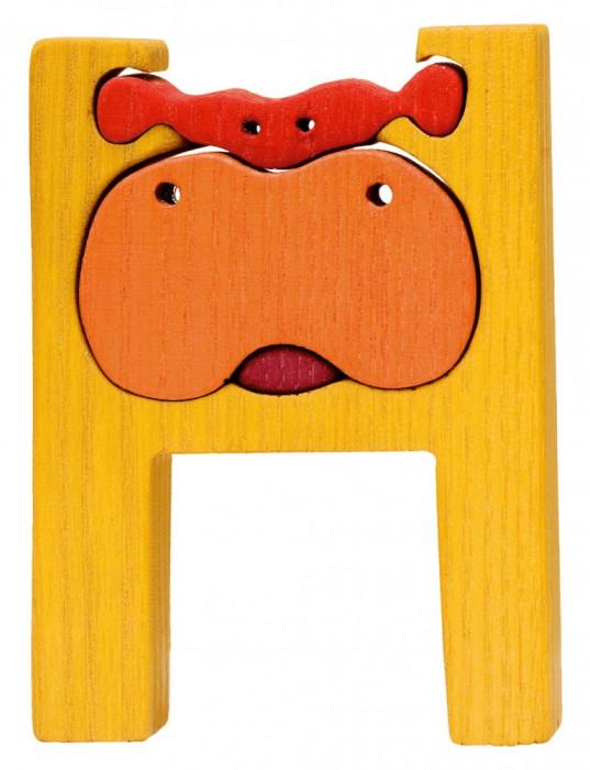 Puzzle Montessori Litera H Hipopotam Arhiva Okaziiro