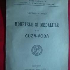 V.N.Popp - Monetele si Medaliile lui Cuza-Voda 1925 -Prima Ed. Gobl si Fiii