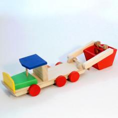 Camioneta lemn masina de gunoi-EcoPino