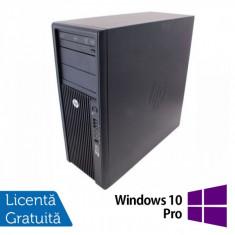 Statie Grafica HP Z210, Intel Xeon E3-1240, 3.3 Ghz, 8Gb DDR3, 750Gb HDD, DVD-ROM + Windows 10 Pro - Sisteme desktop fara monitor