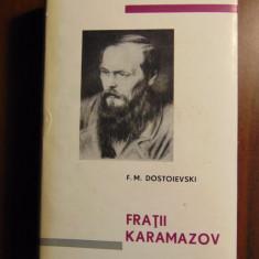 Fratii Karamazov - F. M. Dostoievski (1965) Editie de lux, pe foita (1048 pg) - Carte de lux