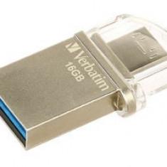 Stick USB 3.0/microUSB Verbatim Store 'n' Go OTG Micro 16GB Negru - Argintiu