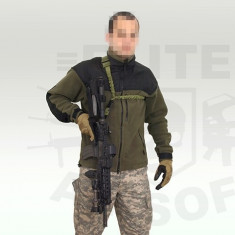 Curea tactica Bungee 1 punct - Negru [8FIELDS] - Echipament Airsoft