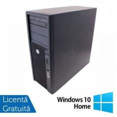 Statie Grafica HP Z210, Intel Xeon E3-1240, 3.3 Ghz, 8Gb DDR3, 750Gb HDD, DVD-ROM + Windows 10 Home - Sisteme desktop fara monitor