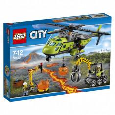 LEGO City Elicopter de aprovizionare la vulcan